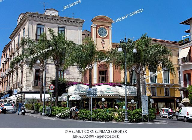 Piazza Tasso square in the center of Sorrento, Sorrento Peninsula, Gulf of Naples, Campania, Italy, Mediterranean sea, Europe