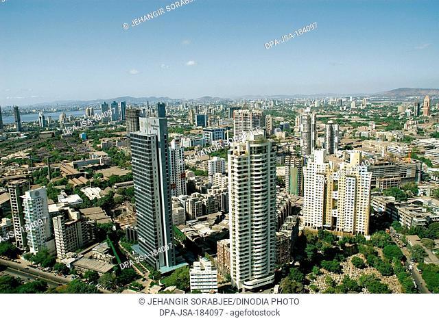 aerial view of worli four seasons hotel at mumbai maharashtra India