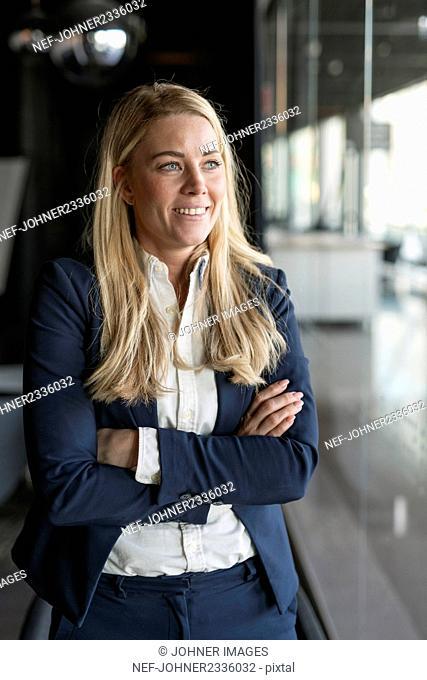 Businesswoman looking away