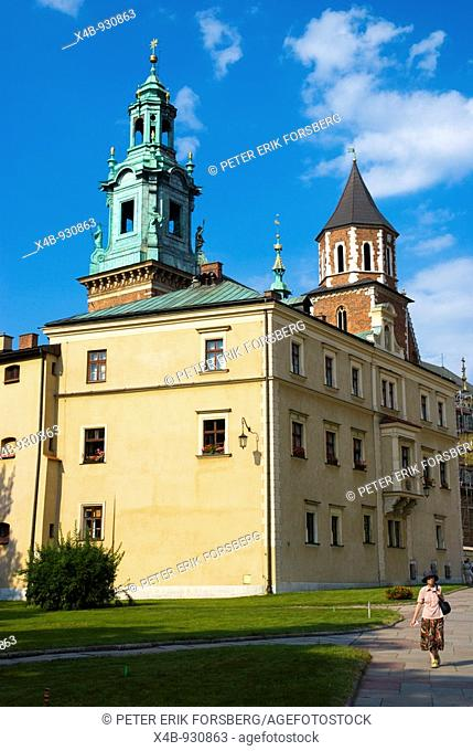Wawel castle hill in Krakow Poland Europe