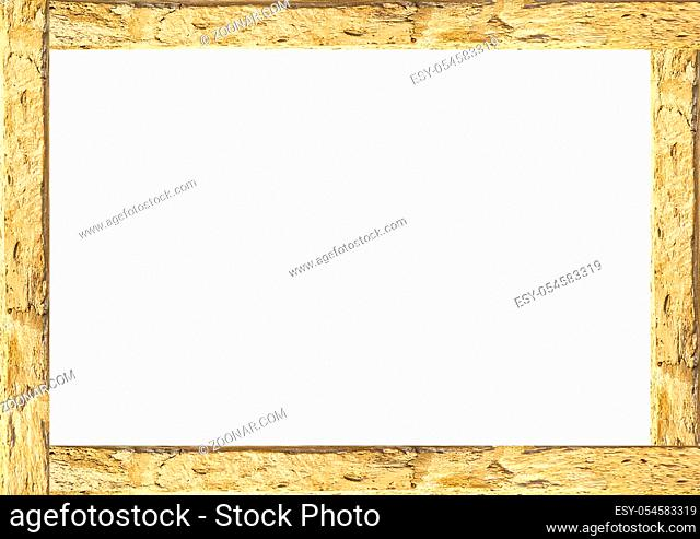 White frame background with decorated design borders