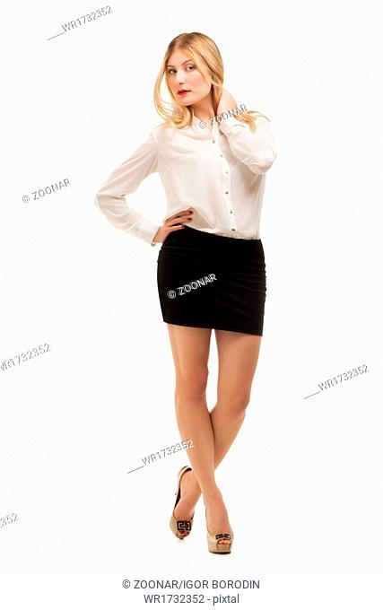 Full length portrait of a confident young woman
