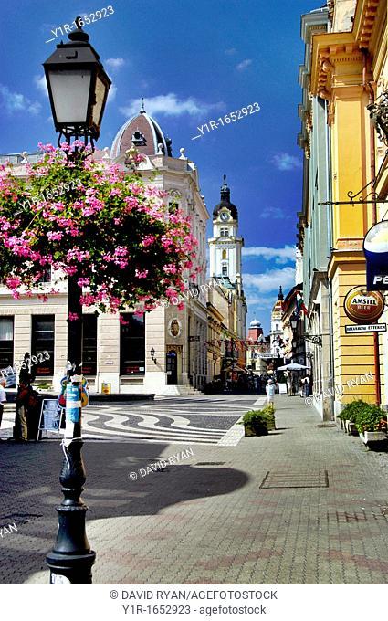 Hungary, Pecs, Szent Mor Utca Street