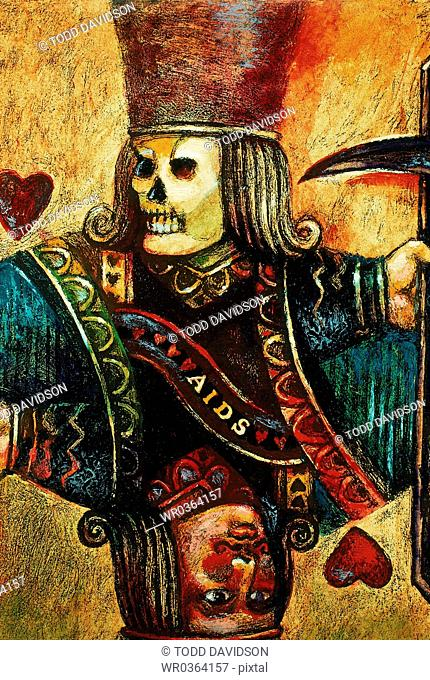 Skeleton King of Hearts