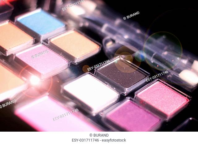 cosmetic set for make-up tools as a stylist hairdresser