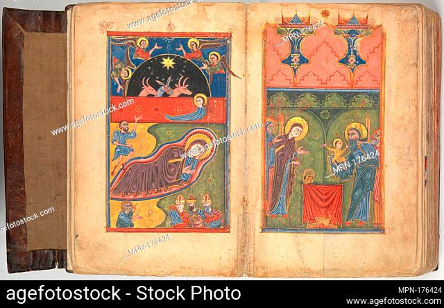 Four Gospels in Armenian. Date: 1434/35; Culture: Armenian; Medium: Tempera and gold on paper; stamped leather binding; Dimensions: Overall: 11 1/16 x 7 5/8 x 3...
