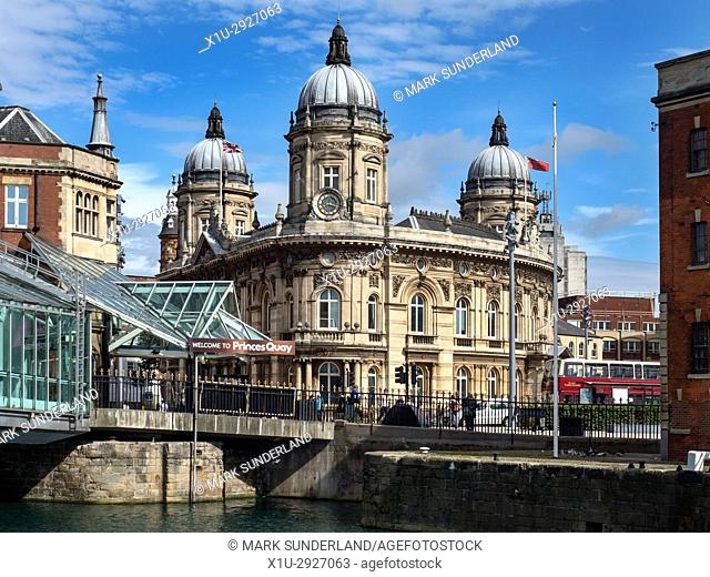 Hull Maritime Museum from Princes Dock Street Hull Yorkshire England