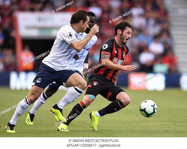 2017 EPL Premier League Football Bournemouth v Everton Aug 25th. 25th August 2018, Vitality Stadium, Bournemouth, England; EPL Premier League football