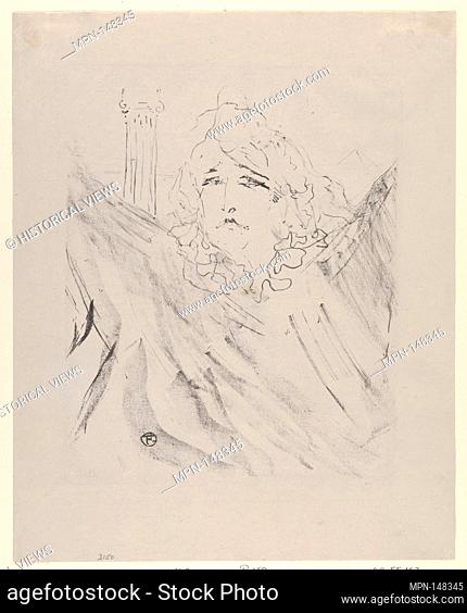 Sarah Bernhardt. Artist: Henri de Toulouse-Lautrec (French, Albi 1864-1901 Saint-André-du-Bois); Date: 1898; Medium: Crayon lithograph on china paper;...