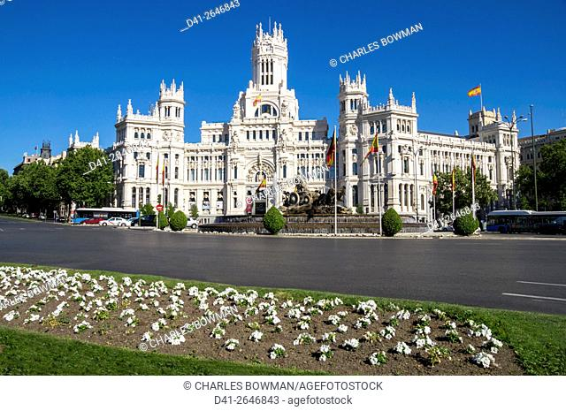 Europe, Spain, Madrid, Plaza de Cibeles Palace