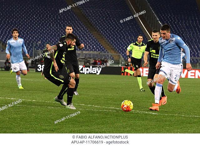 2016 Serie A Football League Lazio v Hellas Verona Feb 11th. 11.02.2016. Stadium Olimpico, Rome, Italy. Serie A football league