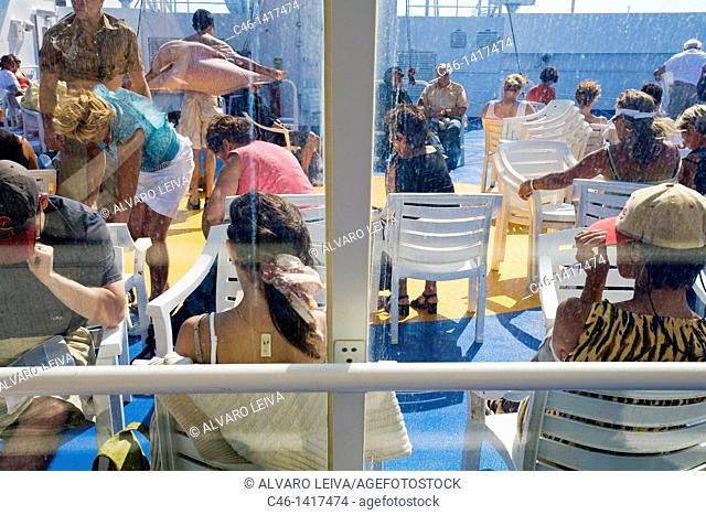 Ferry, Santorini, Cyclades Islads, Greece