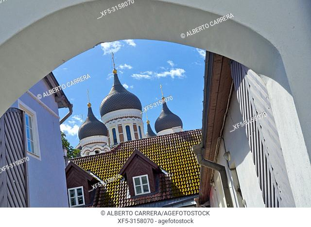 Alexander Nevsky Cathedral, Old Town, Tallinn, Estonia, Europe
