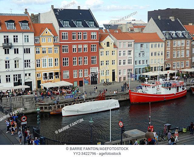 Townhouses, Nyhavn Canal, Copenhagen, Denmark. . .