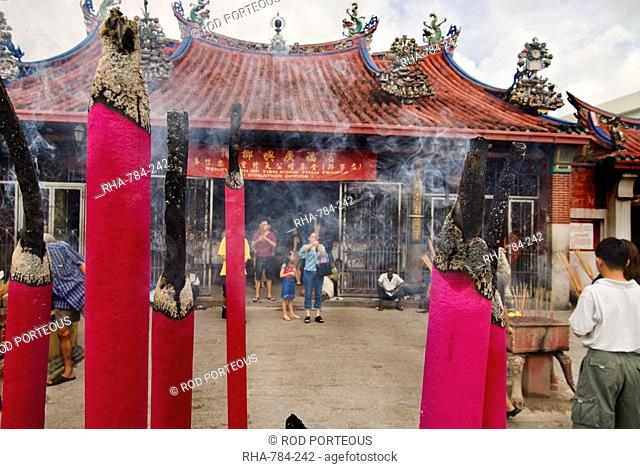 Giant incense sticks, Chinese moon festival, Georgetown, Penang, Malaysia, Southeast Asia, Asia