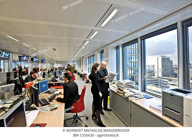 Axel-Springer-Verlag publishing house, newsroom of the daily newspapers «Welt», «Welt am Sonntag, Welt Kompakt, Berliner Morgenpost