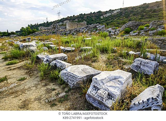 Perge stadium. Old capital of Pamphylia Secunda. Ancient Greece. Asia Minor. Turkey