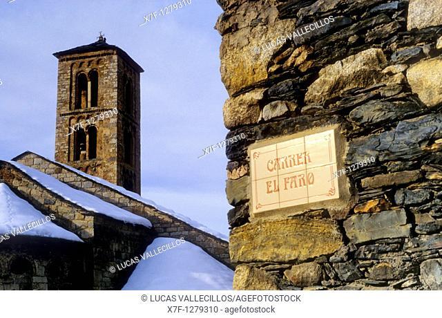 Church of Santa Maria Romanesque church  Taüll  Boí valley Lleida province  Catalonia  Spain