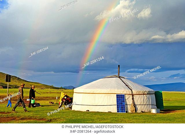 Mongolia, Ovorkhangai province, Okhon valley, Nomad camp