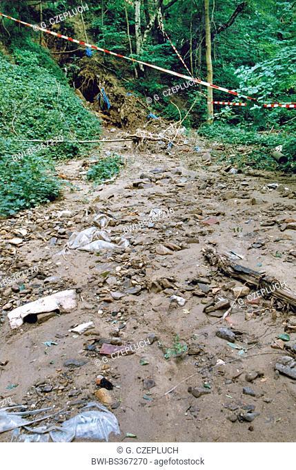 landslide after heavy rain, Germany