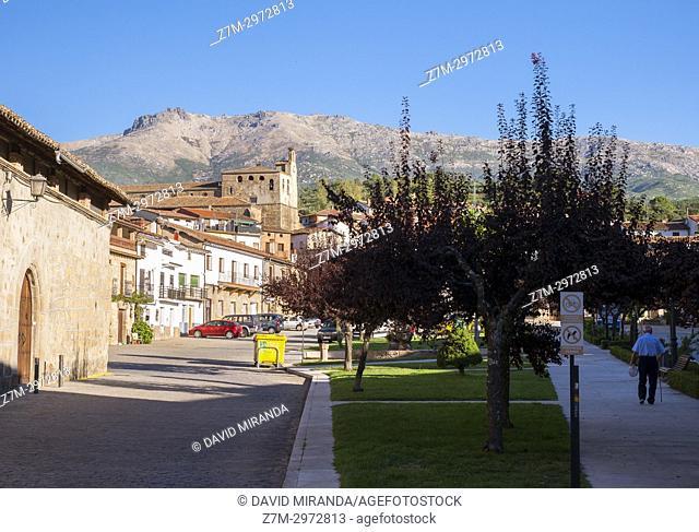 Plaza de la Corredera. Mombeltrán. Barranco de las cinco villas. Valle del Tiétar. Provincia de Ávila, Castile-Leon, Spain
