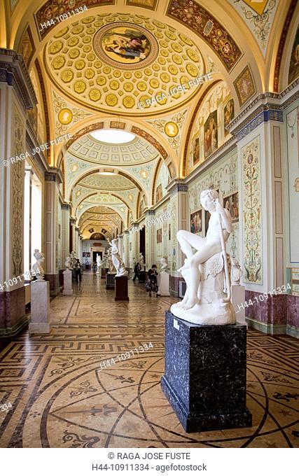 Russia, Saint Petersburg, Peterburg, City, Winter Palace, Hermitage, Museum, interior, statues