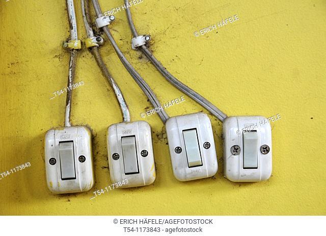 Light switch in Cambodia
