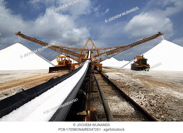 Netherlands Antilles, Bonaire, the Salt works now owned by the cargill company