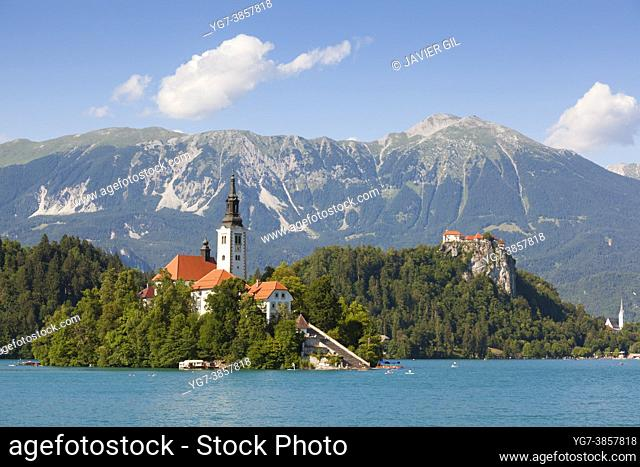Bled island with St. Mary's Church, Bled, Slovenia