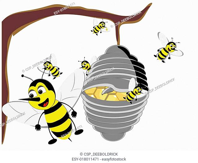 Illustration of a Bizzy Beehive