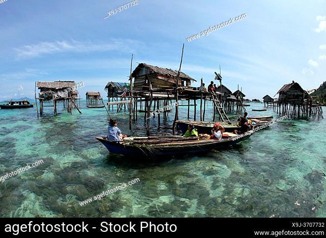 Borneo Sea Gypsies, Bajau People, Semporna, Sabah , Malaysia, Asia