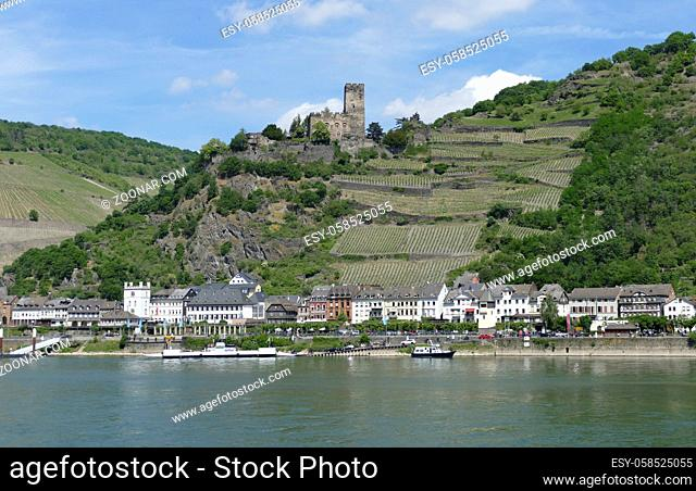 Gutenfels Castle at the Rhine Gorge near Kaub in Rhineland-Palatinate, Germany