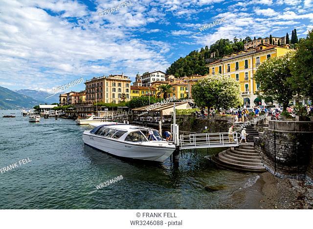 View of Lake Como and Bellagio, Province of Como, Lake Como, Lombardy, Italian Lakes, Italy, Europe