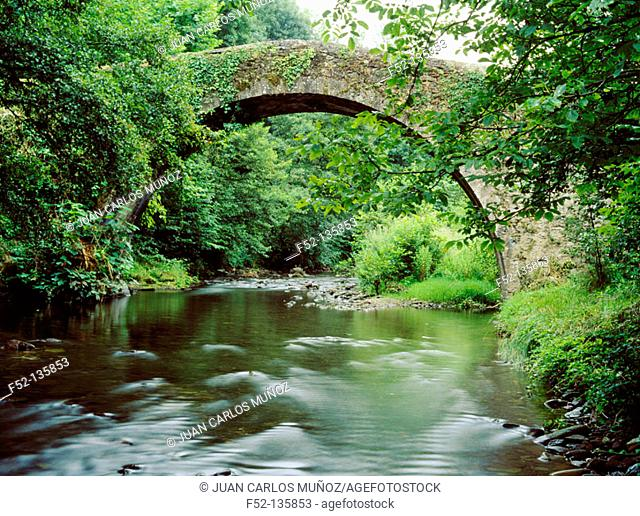Bridge. Ituren. Valle de Bidasoa. Navarre. Spain