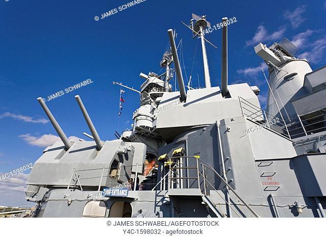 Battleship USS Alabama tourist attraction in Mobile Alabama