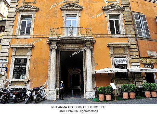 Facade in the downtown, Rome, Italy
