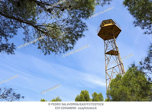 Watch tower view in Huesca province, Aragon, Spain