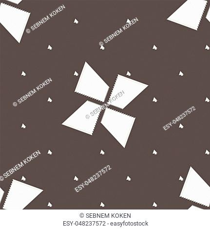 Seamless black and white abstract concentric shapes, texture background vector pattern