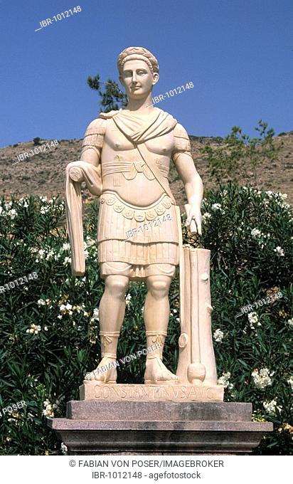 Roman statue at the Terra Mítica Theme Park, Benidorm, Costa Blanca, Spain, Europe