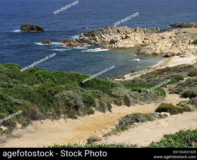 Die Insel Korsika im Mittelmeer