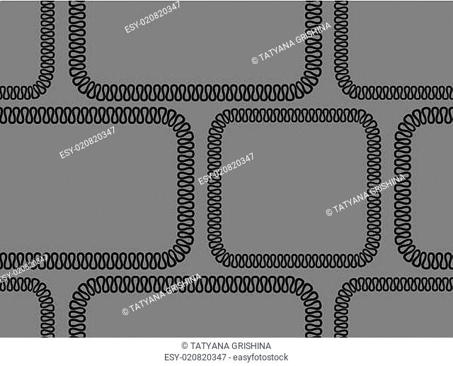 Vector seamless background. black pattern on gray background