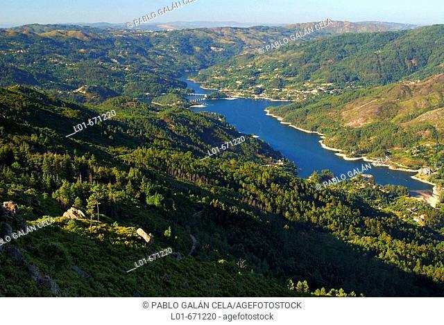 Caniçada Reservoir. Peneda-Gerês National Park. Portugal