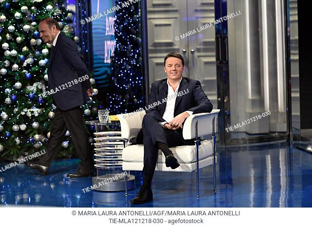 Former Italian Prime Minister Matteo Renzi during the tv show ' Porta a porta' Rome, ITALY-11-12-2108