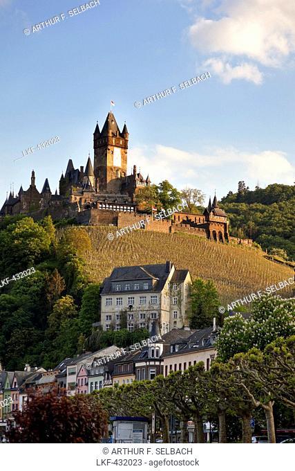 Reichsburg, Cochem Imperial castle in Cochem, Cochem, Rheinland-Pfalz, Germany