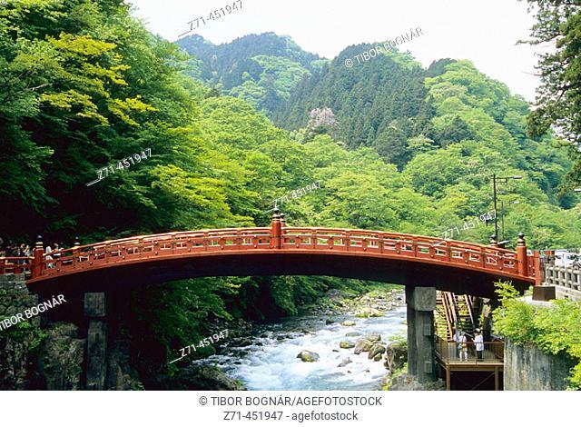 Shinkyo sacred bridge. Nikko, Japan
