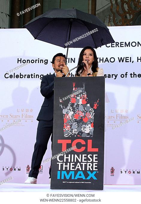 Hand Print/Birthday Bash Ceremony at the TCL Chinese Theatre IMAX Featuring: Justin Lin, Zhao Wei Where: Hollywood, California