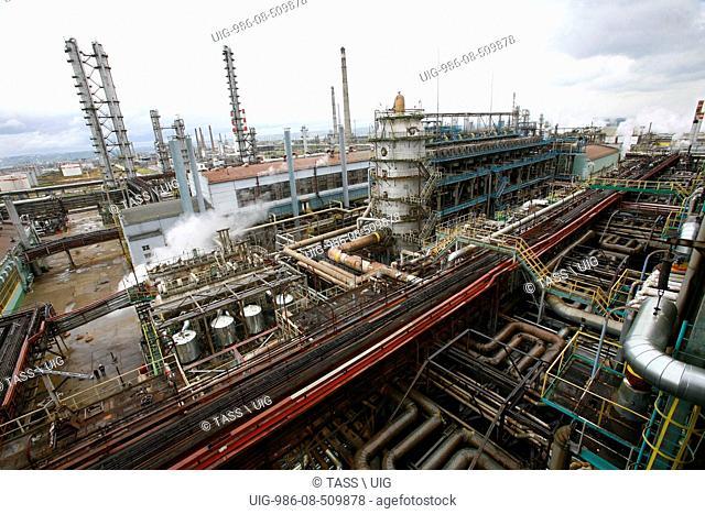 Kstovo Petrochemical Plant Of Sibur Neftekhim Company In Nizhni Novgorod