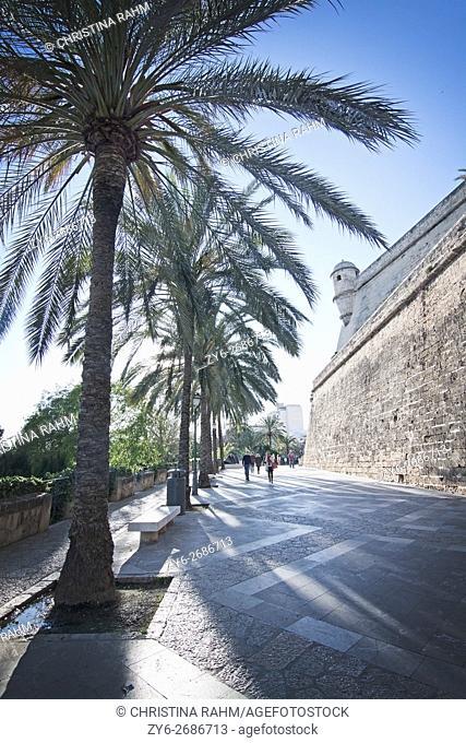 Es Baluard medieval tower in Palma de Mallorca, Balearic islands, Spain