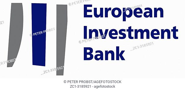 Logo of the European Investment Bank EIB with seat in Luxembourg