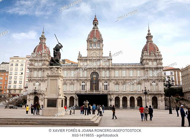Town hall, A Coruña, Galicia, Spain